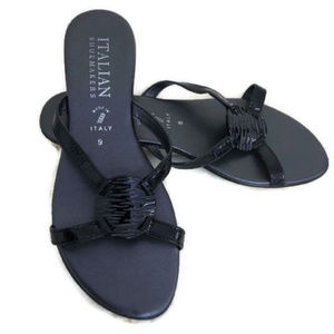 Italian Shoemakers Black Sandals Size 9